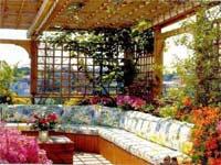 Schöne Veranta im Garten