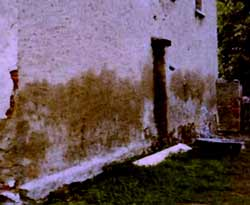 Feuchte salzbelastet Wand